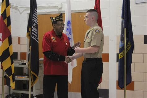 easton high njrotc holds change  command ceremony