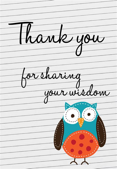 For Sharing Your Widsom  Thank You Card For Teacher  Greetings Island