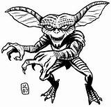 Coloring Pages Gremlins Horror Halloween Drawing Gizmo Scary Adult Colouring Sketch Sheets Movies Monster Rocky Gremlin Clipart Drawings Bing Template sketch template