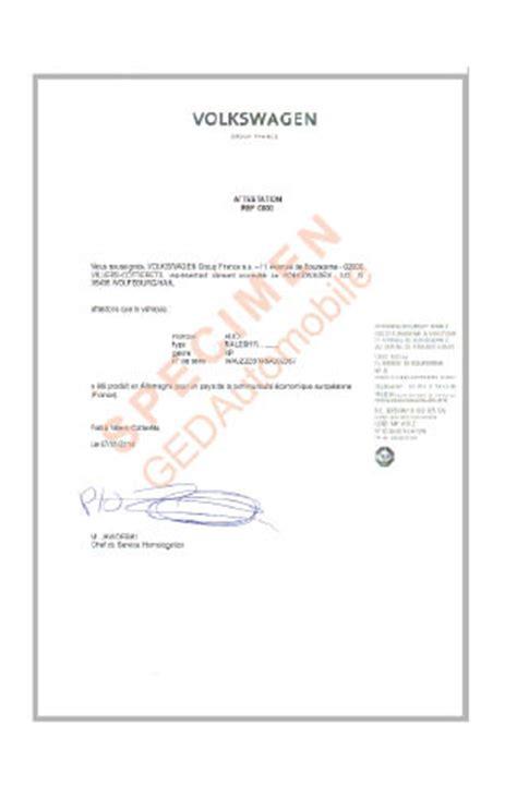 chambre de commerce certificat d origine attestation d 39 origine audi