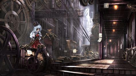 anime girls anime steampunk wallpapers hd desktop