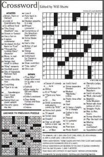 New York Times Printable Crossword Puzzles