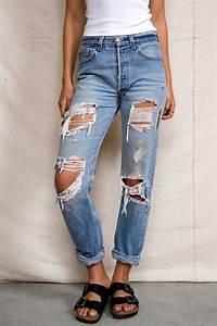 High Waisted Ripped Boyfriend Jeans - Oasis amor Fashion