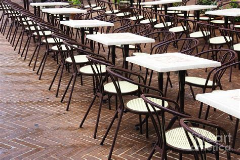 cafe tables and chairs photograph by woodhouse