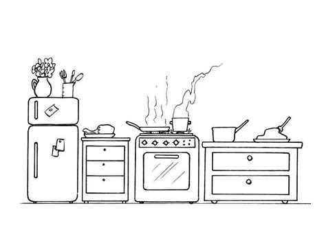 coloring page kitchen  printable coloring pages img