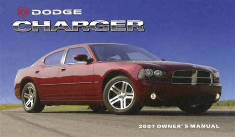 dodge charger owner manual user guide reference
