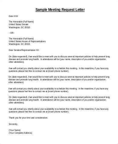 sample letter requesting   meeting