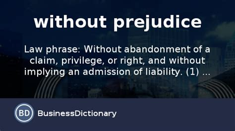 prejudice definition  meaning