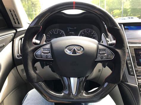 Infiniti Q50 Steering by Flat Bottom Carbon Fiber Steering Wheel Infiniti Q50 2014