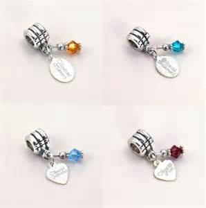 bridesmaid gift boxes birthstone charm with sterling silver engraved tag fits