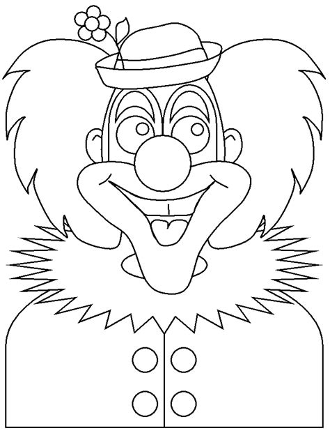 Kleurplaat Clowsgezicht by Clown2 Circus Coloring Pages Coloring Book