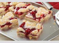 Cherry and almond finger slices