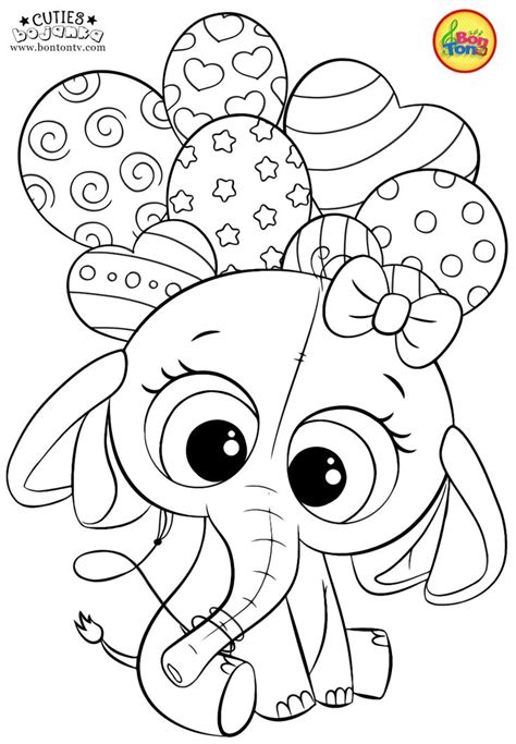 cuties coloring pages  kids  preschool printables slatkice bojanke cute ani