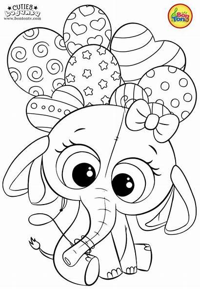 Coloring Pages Cuties Bojanke Preschool Printables Printable