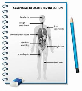 Symptoms Of Acute Hiv Infection Diagram Stock Vector