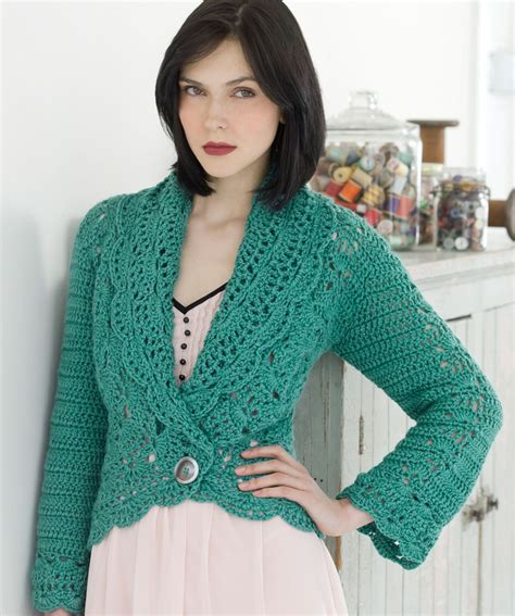 crochet cardigan pattern filigree cardigan crochet pattern red heart