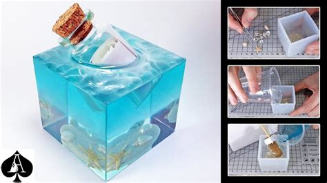 message   bottle epoxy resin paperweight cube