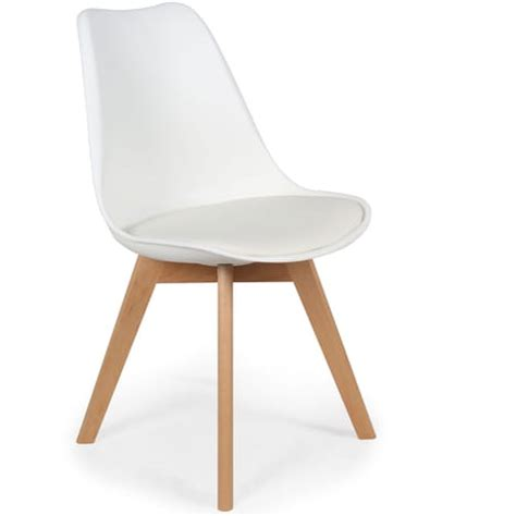 menzzo chaise lot de 2 chaises style scandinave bovary menzzo pas cher à