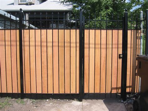wrought iron and wood fence cedar fence gallery freeman fence