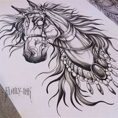 Horse Tattoo Design By Family Ink  Family Ink Tattoo