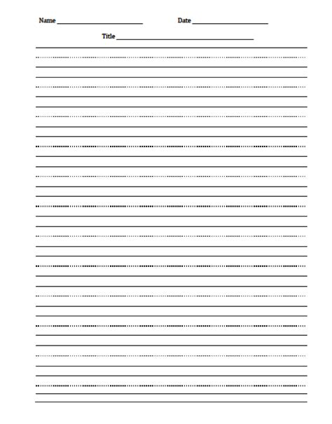 writing templates for 3rd grade the idea backpack freebie editable handwriting paper