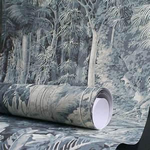 Decolle Papier Peint : oiseaux exotiques papier peint panoramique en trompe l 39 oeil papiers de paris ~ Dallasstarsshop.com Idées de Décoration