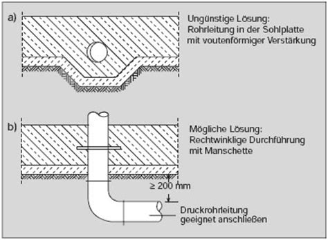 grundleitung unter bodenplatte wei 223 e wanne beton org