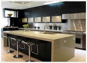 cuisine plan de cuisine ouverte fonctionnalies moderne With plan de cuisine ouverte