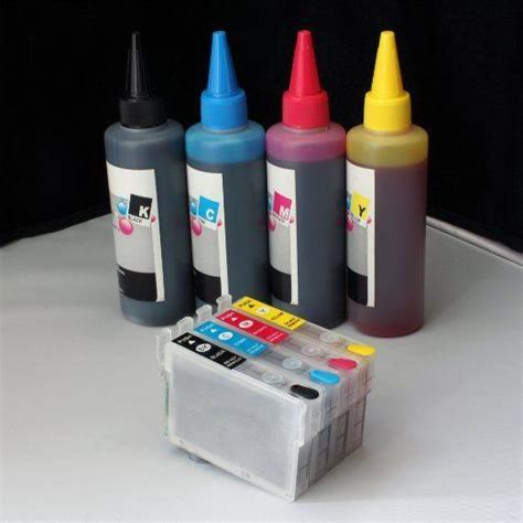 Refillable #200 w/ 400ml Pigment Sublimation ink for Epson