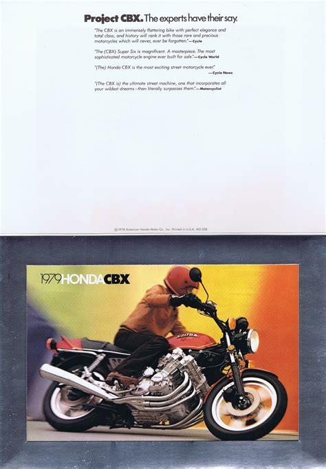 honda cbx  brochureenvelopeusa honda