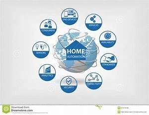 Smart Home Standards : vector illustration with different line icons smart home ~ Lizthompson.info Haus und Dekorationen