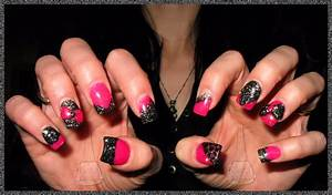Nail Junkie: New Nail designs! Sculptured acrylic, pink ...