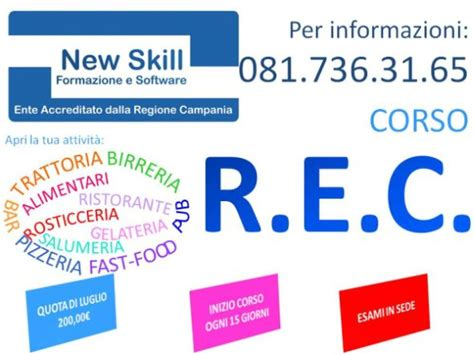 Di Commercio Rec by Corso Rec Napoli Requisito Professionale Per Il Commercio