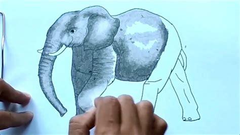 cara mewarnai gambar gajah menggunakan pastels