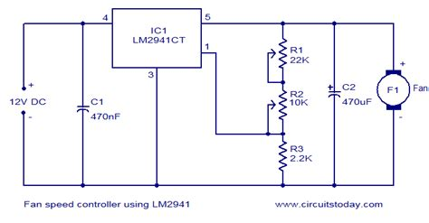 day night fan speed controller fan speed controller using lm2941 todays circuits