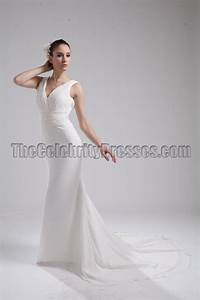 new style ivory v neck informal wedding dress evening gown With ivory informal wedding dresses