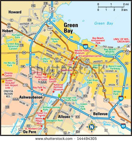 Green Bay Wisconsin Area Map