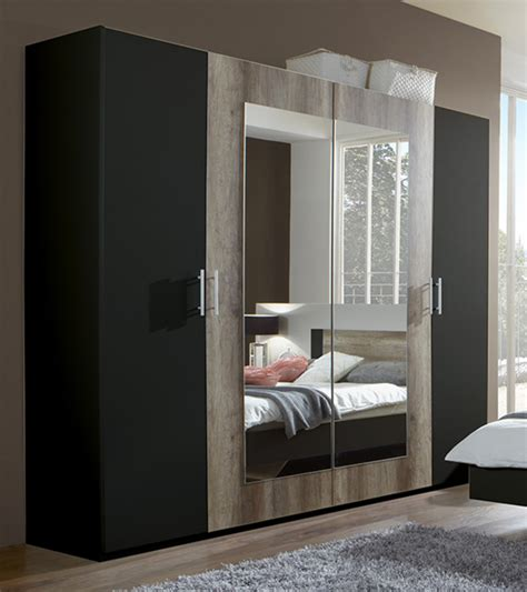 but fr chambre armoire 4 portes francy lave chene sauvage