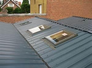 Rehausse Velux Toit Faible Pente : toiture bac acier prix toiture ardoise guehenno online ~ Nature-et-papiers.com Idées de Décoration