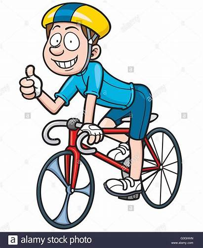 Karikatur Radfahrer Vektor Alamy