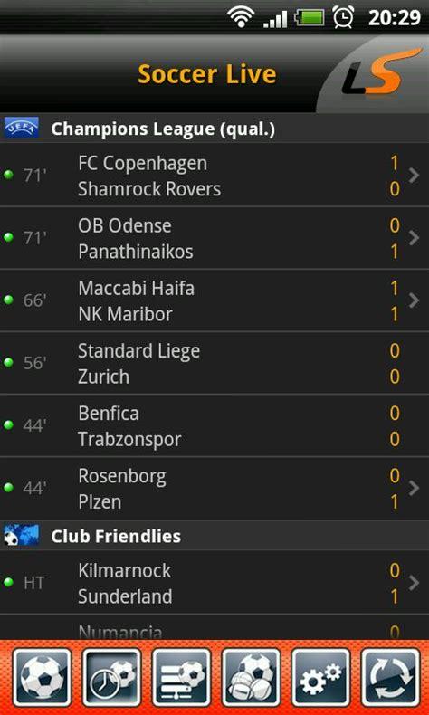 livescore soccer  scores androidtapp