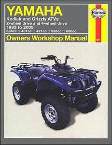 Buy Yamaha Kodiak Grizzly 400 450 600 660 Atv Quad Manual Motorcycle In Laguna Hills  California