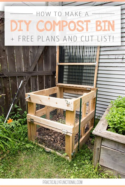 build  diy compost bin  plans cut list