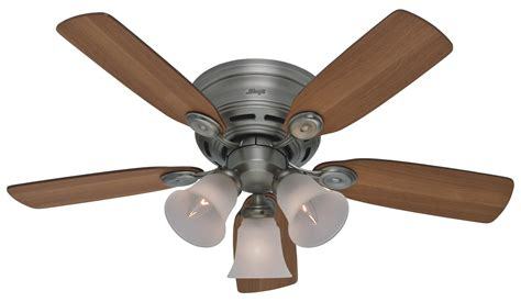 Hunter 42 Low Profile Plus Ceiling Fan 23857 In Antique