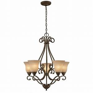 Portfolio linkhorn light iron stone chandelier at
