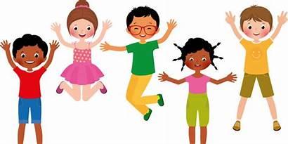 Jumping Clipart Fun Children Clip Kinderen Dansen