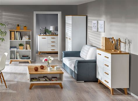 SCANDIC Skandināvu stila galdinš SCANDIC 10, 4 mēbeles ...