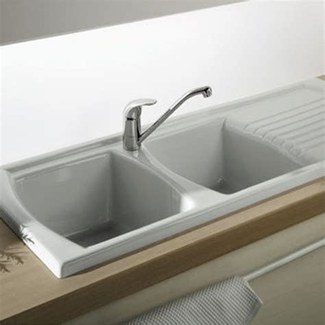 single or double sink turner hastings lusitano recessed fine fireclay kitchen