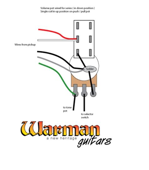How Wire Push Pull Pot For Coil Tapping Humbucker