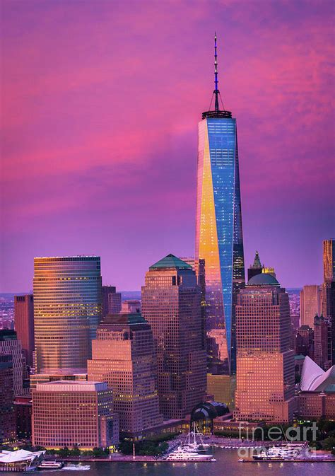 One World Trade Center Sunset Photograph By Inge Johnsson